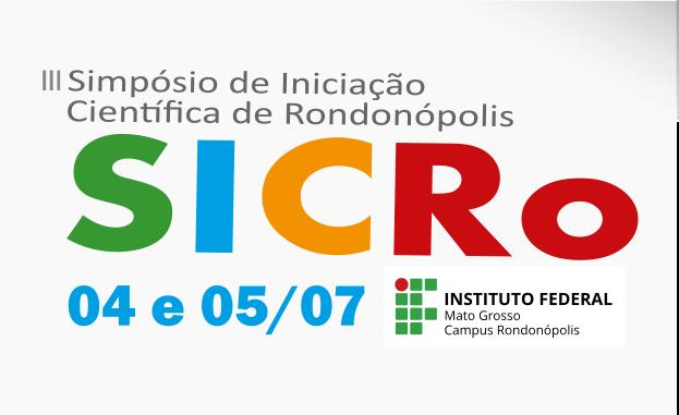 III Simpósio de Iniciação Científica do Campus Rondonópolis