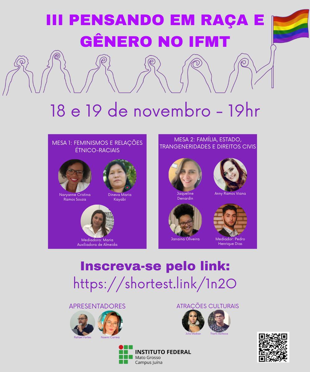 III Pensando em Raça e Gênero no IFMT - campus Juína
