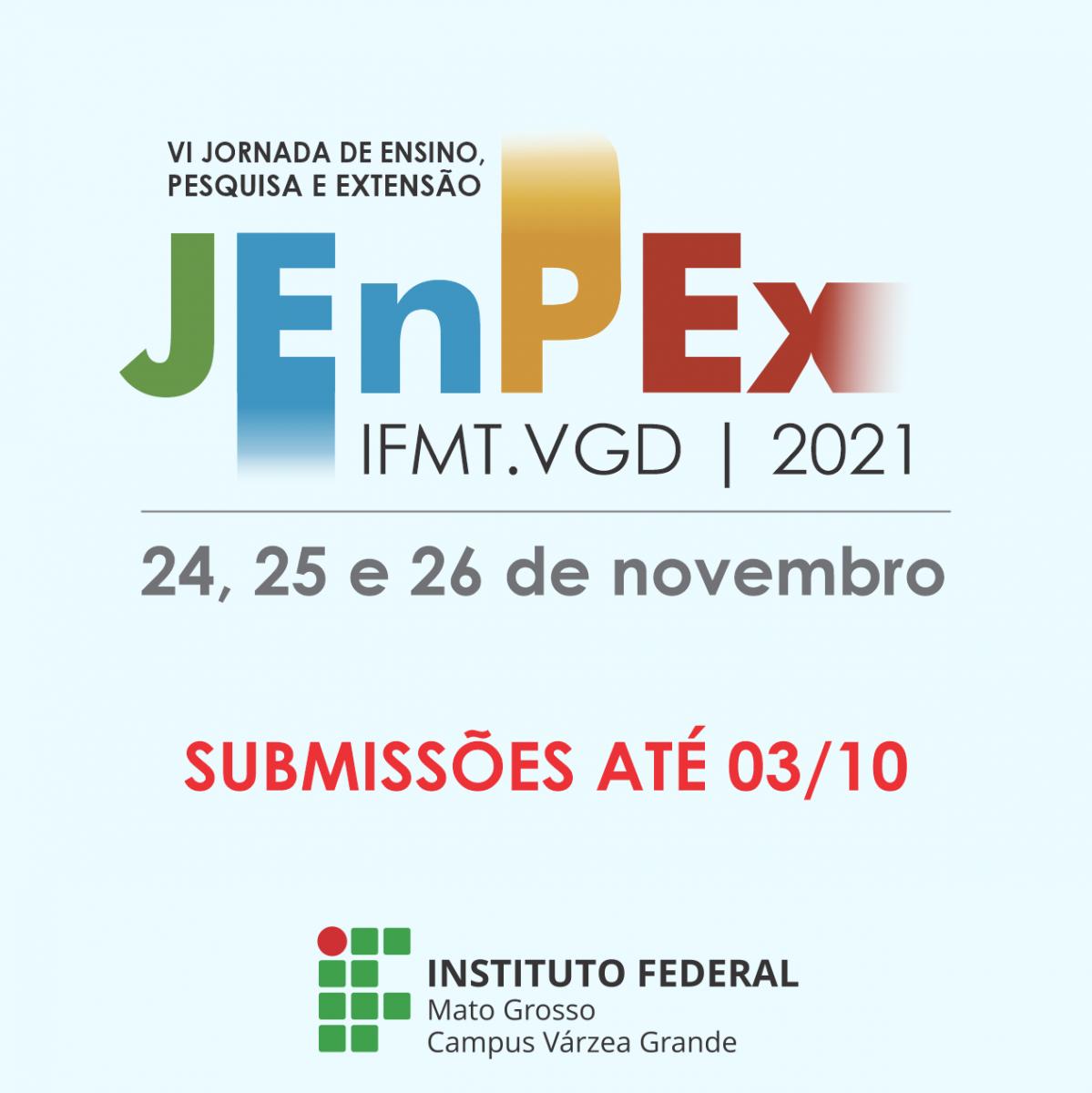 VI Jornada de Ensino, Pesquisa e Extensão (JENPEX) IFMT Campus Várzea Grande